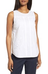 Nordstrom Women's Collection Embroidered Cotton Voile Top