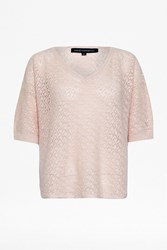 French Connection Summer Sloanie Kites V Neck Jumper Pink