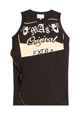 3.1 Phillip Lim Cotton Graphic Print Tank Top Black