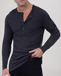 2Xist 2 X Ist Long Sleeve Henley Grey Heather