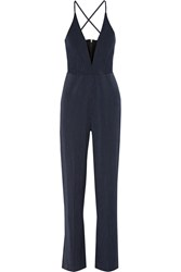 Mason By Michelle Mason Pinstriped Twill Jumpsuit