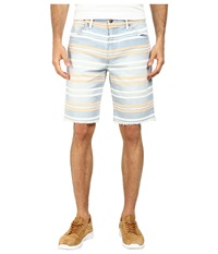 Joe's Jeans Cut Off Shorts In Tangier Bay Stripe Tangier Bay Stripe Men's Shorts White