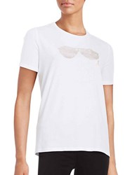 Karl Lagerfeld Sunglasses Tee White