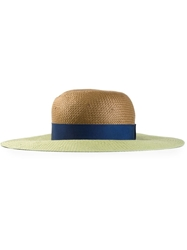 Lanvin Two Tone Sun Hat Green