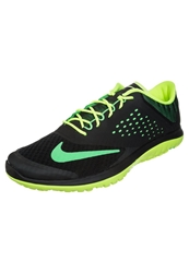 Nike Performance Fs Lite Run 2 Lightweight Running Shoes Black Poison Green Volt