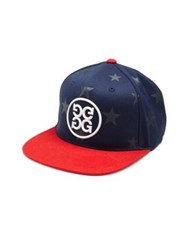 G Fore Star Printed Flat Brim Cap Navy Red