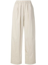 Emporio Armani High Waisted Palazzo Pants Nude And Neutrals