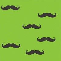 Wallcandy Mustache Temporary Wallpaper