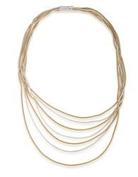 Lauren Ralph Lauren 14K Gold Plated Two Tone Snake Chain Necklace Mixed Metal