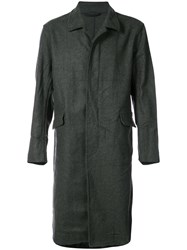 Casey Casey Straight Fit Buttoned Coat Virgin Wool Nylon Other Fibers Grey