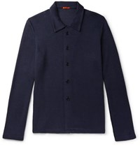 Barena Mesola Stretch Knit Shirt Navy