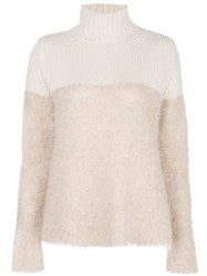 Majestic Filatures Two Tone Roll Neck Sweater 60