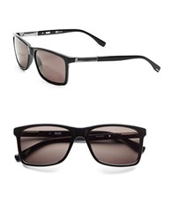 Hugo Boss 57Mm Wayfarer Sunglasses Black Dark Ruthenium