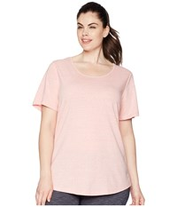 Aventura Clothing Plus Size Dharma Short Sleeve Top Brandied Apricot Pink