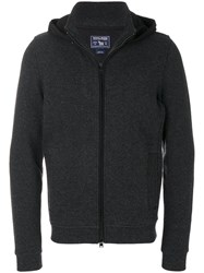 Woolrich Zipped Knit Hoodie Cotton Polyamide Polyester Wool Xl Grey