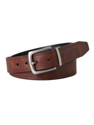 Fossil Parker Reversible Leather Belt Brown