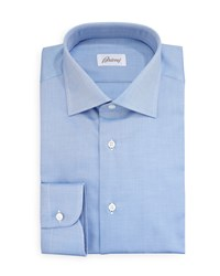 Brioni Diagonal Twill Dress Shirt Blue Size 15.5