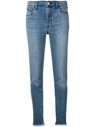 J Brand Mid Rise Skinny Jeans Blue