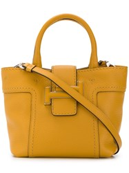 Tod's Double T Tote Bag Yellow