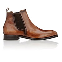 Harris Men's Burnished Chelsea Boots Dark Brown