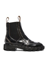 Balenciaga Shiny Leather Chelsea Boots In Black