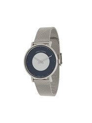 Larsson And Jennings Code Dot Milanese 38Mm Watch Silver