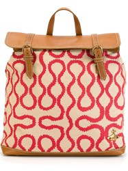 Vivienne Westwood Anglomania Printed Backpack Nude And Neutrals