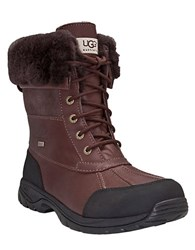 Ugg Mens Butte Sheepskin Leather Boots Club Brown