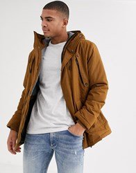 Esprit Parka With Teddy Lined Hood In Tan