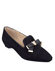 Isaac Mizrahi French Suede Flats Black