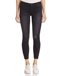 Black Orchid Noah Ankle Fray Jeans In Darkness