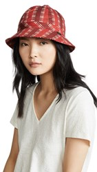 Brixton Banks Bucket Hat Red Dark Red
