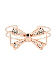 Ted Baker Josz Rose Gold Jewelled Bow Cuff Rose Gold