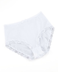 Hanro Valerie Lace Trim Briefs White X Small