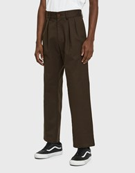 Paa Double Pleat Pant In Dark Brown