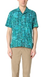 Gitman Brothers Vintage Camp Bamboo Batik Shirt Teal
