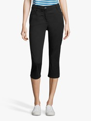 Betty Barclay Stretch Cotton Cropped Jeans Black