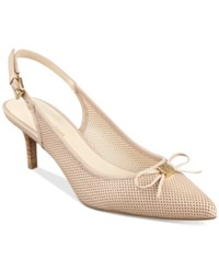 Tommy Hilfiger Janis Slingback Pumps Women's Shoes Natural