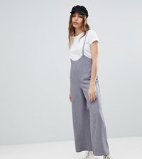 c450db593d27 Reclaimed Vintage Inspired Pinstripe Crop Trousers With Braces Grey
