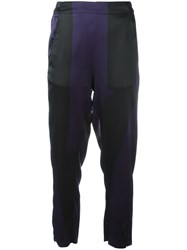 Ann Demeulemeester Elasticated Waistband Cropped Trousers Pink Purple