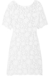 Miguelina Gracelyn Crocheted Cotton Mini Dress White