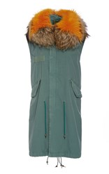 Mr And Mrs Italy Summer Stone Washed Long Waistcoat Green