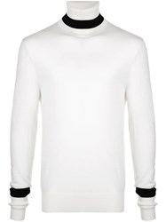 Neil Barrett Roll Neck Sweater White