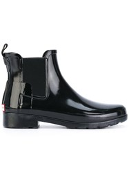 Hunter Original Gloss Chelsea Boots Women Cotton Polyamide Rubber 37 Black