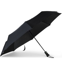 Fulton Jumbo Open And Close Folding Umbrella Black