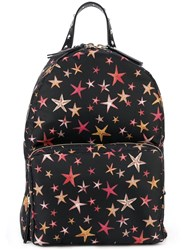 Red Valentino Star Print Backpack Black