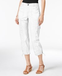Style And Co Co. Knit Waistband Cargo Capri Pants Only At Macy's Bright White