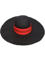 Tomas Maier Wide Brim Sun Hat Black