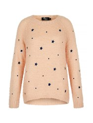 Mela Loves London Star Print Jumper Light Pink