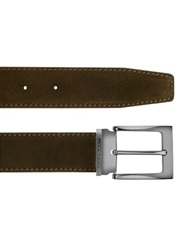 Moreschi Dallas Dark Brown Suede Leather Belt